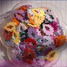 Около 120 Шт. 2.4X1.6 cm Смешанный Цвет Блестки Швейная Фурнитура Плоским Выдалбливают Блесток Для Ремесел Записках DIY(China (Mainland))