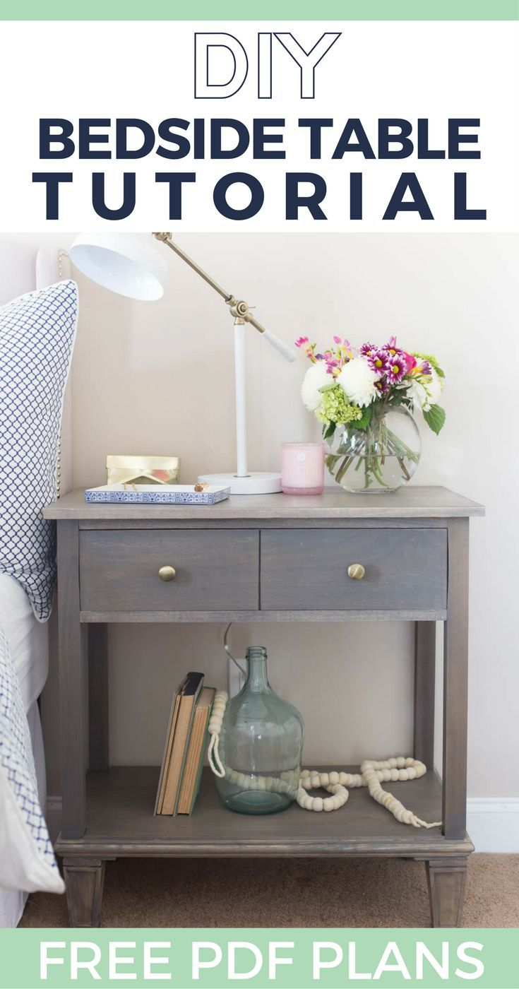 WOW! These nightstands are so cute. Here's a DIY build tutorial with free building plans for a pottery barn style bedside table.