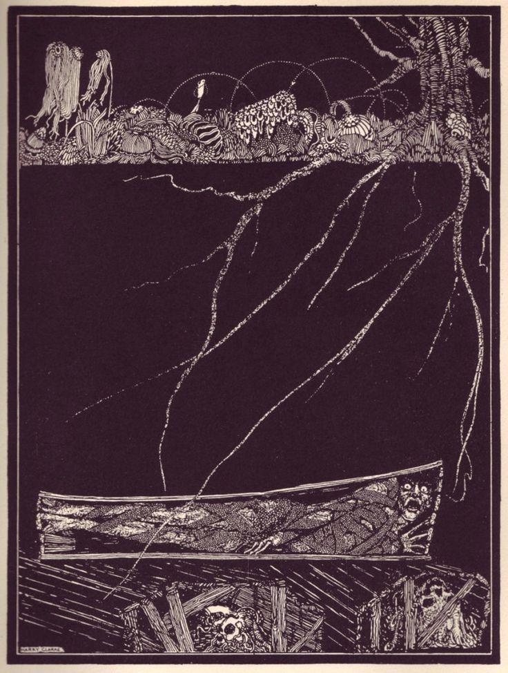 """""""El entierro prematuro"""" (Edgar Allan Poe), por Harry Clarke - http://publicdomainreview.org/"""