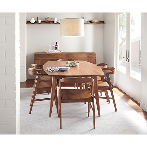 new dining set with midcentury modern style