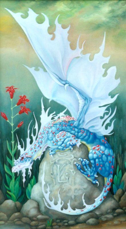 Dragon Crystasl Flame by Anna Zinkovsky