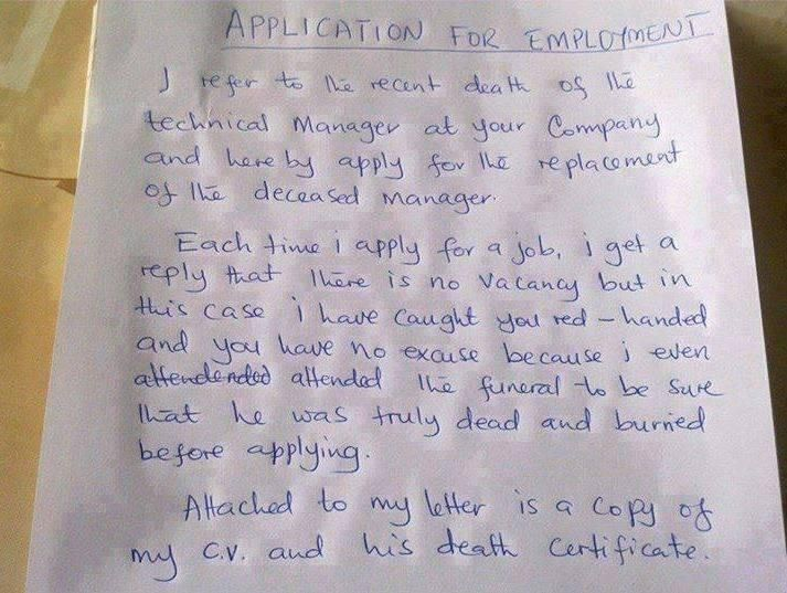 letter for employment