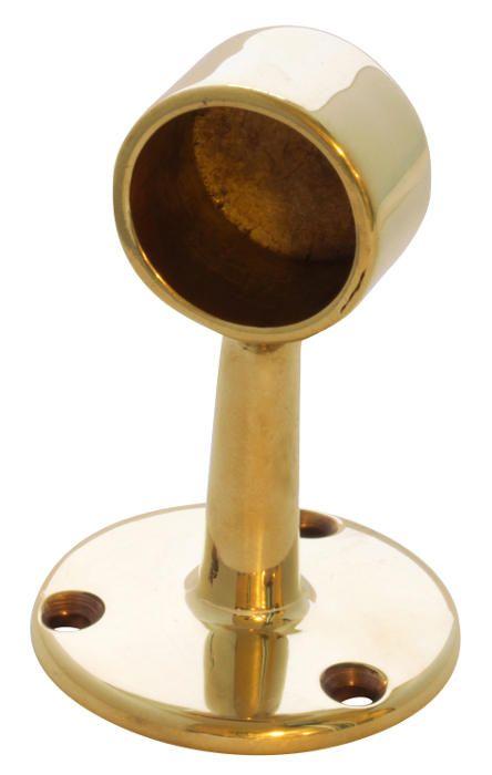 Rörhållare eller rörfäste för 25 mm rör i obehandlad mässing. Välkommen in till Sekelskifte och våra krokar och hängare i gammaldags stil!