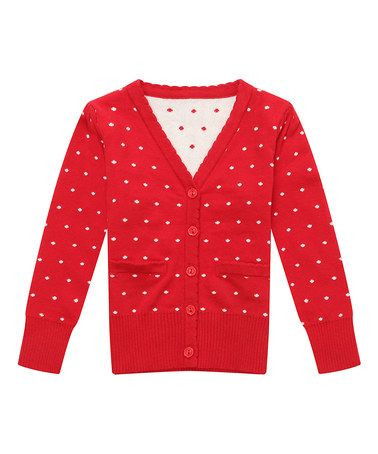 This Red Dot Cardigan - Infant & Toddler is perfect! #zulilyfinds