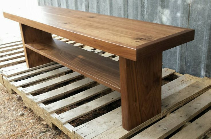 Walnut Modern Bench by EchoPeakDesign on Etsy https://www.etsy.com/listing/250489401/walnut-modern-bench