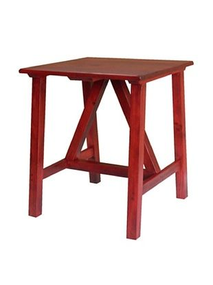 54% OFF 2 Day Designs Pine Creek End Table, Rouge