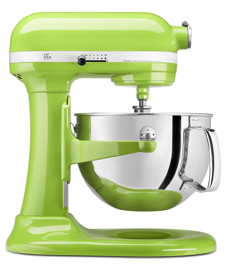 KitchenAid KP26M1X Stand Mixer, 6 Qt. Professional 600 - Stand Mixers & Attachments - I wish they had Teal but Lime Green is awesome too! :D