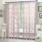 Vines Leaves Tulle Door Window Net Curtain Slot Top Plain Floral Curtains Decor …  – Window Treatments & Hardware