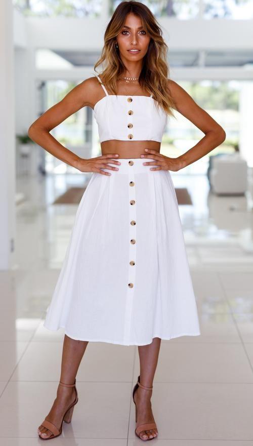 c9398a70c6 Portofino Skirt (White) Mura Boutique | cozy | Skirts, Casual summer ...