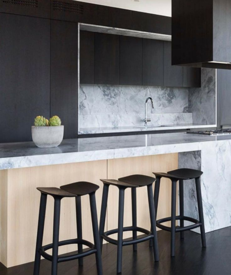 "Weststyle on Instagram: ""Kitchen inspo  Black floors? To die for. #black #marble #timber #concrete #kitcheninspo #interiordesign #kitchendesign #interiors…"""