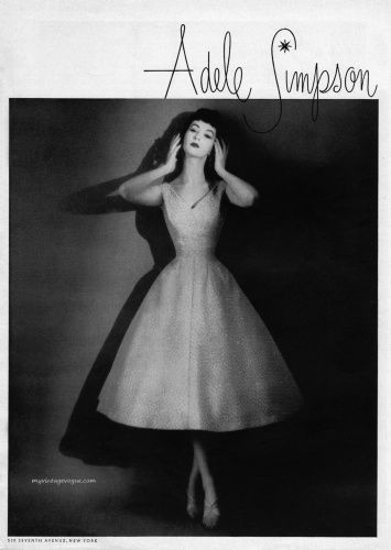 adele simpson she was a prominent designer in the 1950u0027s she was known for vintage