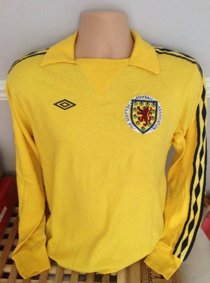 Genuine Original 1970s Match Worn Players Shirt Umbro Scotland Goalkeeper Yellow   eBay