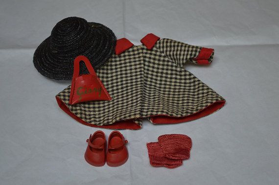 1950/'s GINNY SHOES /& SOCKS RED in Original Box Vogue 3 available