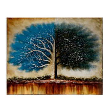 Product Details Blue Tree Of Life Canvas Art Print Gotta