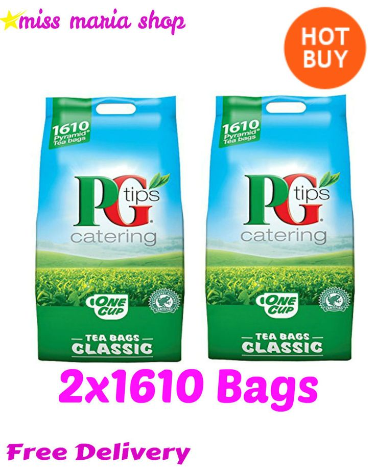 PG Tips Tea Bags Pyramid 3220 Catering Bulk Buy Party Offices 2x 1610 Warm Cuppa