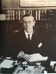 Thomas Woodrow Wilson (December 28, 1856 – February 3, 1924) was the 28th President of the United States from 1913 to 1921 and leader of the Progressive Movement. A Southerner with a PhD in political science, he served as President of Princeton University from 1902 to 1910. He was Governor of New Jersey from 1911 to 1913, and led his Democratic Party to win control of both the White House and Congress in 1912.  Wilson induced a Democratic Congress to pass a progressive legislative agenda…