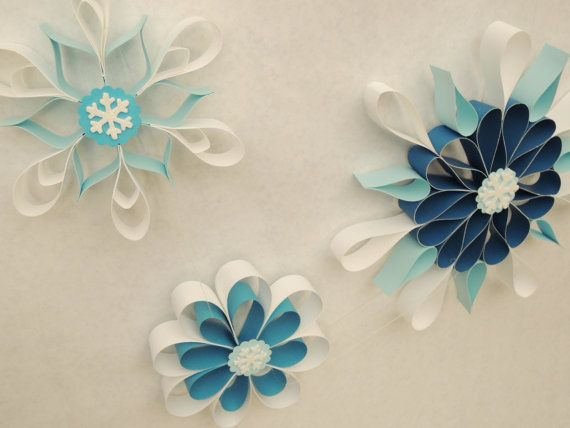 Frozen Party Hanging Snowflakes, Winter party decorations, Wall decorations on Etsy, $12.50