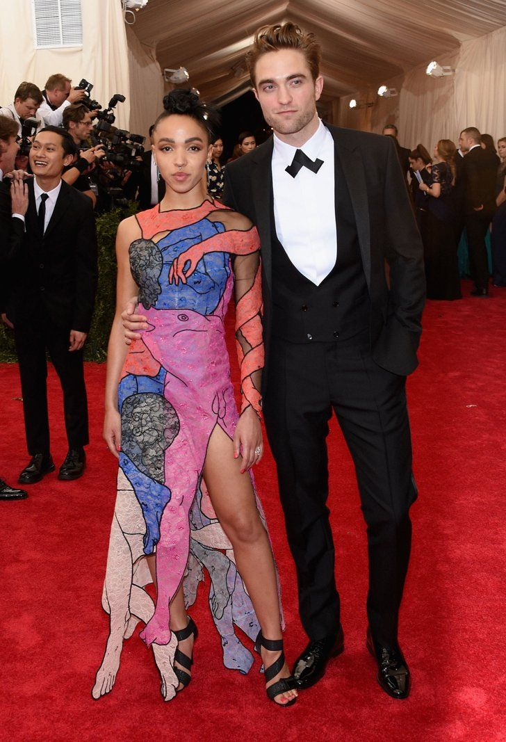 Pin for Later: Relive All the Glamour From Last Year's Met Gala Red Carpet FKA Twigs FKA Twigs chose a bold gown for her first public appearance with fiance Robert Pattinson.