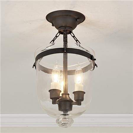 Mini Smokebell Semi-Flush Ceiling Lantern. Hallway Light FixturesHallway ...