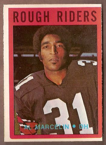 Al Marcelin CFL card 1972 O-Pee-Chee #69 Ottawa Rough Riders  Parsons College Wildcats