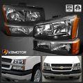 2003-2007 Chevy Silverado Black Headl...