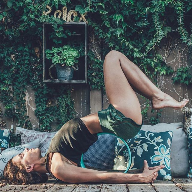 Just lay back & let the wheel do the work. #DharmaYogaWheel Check…