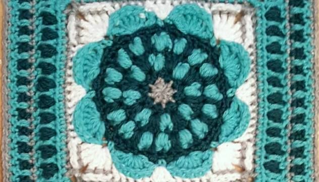 Sunflower Mandala Square Crochet Pattern