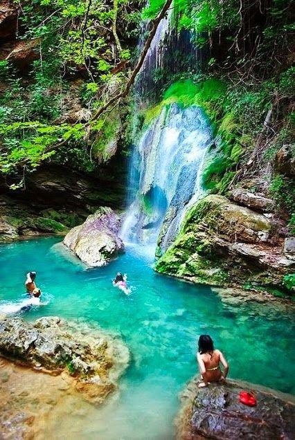 Edessa waterfalls in Edessa, Greec