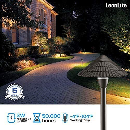 Leonlite 12 Pack 3w Led Landscape Light 12v Low Voltage Waterproof Outdoor Pat 12pack 12v L In 2020 Outdoor Pathway Lighting Outdoor Pathways Landscape Lighting