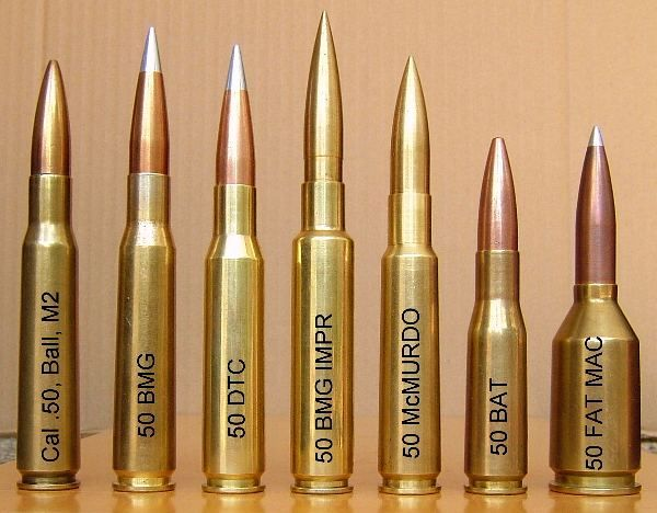 The 50 BMG and .50-Caliber Cartridges | Armory & Weapons ...