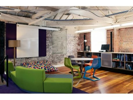 Plank Myto chairs in multi colours at Stephenson & Turner Architects, NZ