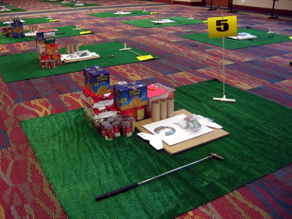 Corporate retreat activities: Build Your Own Mini Golf Course