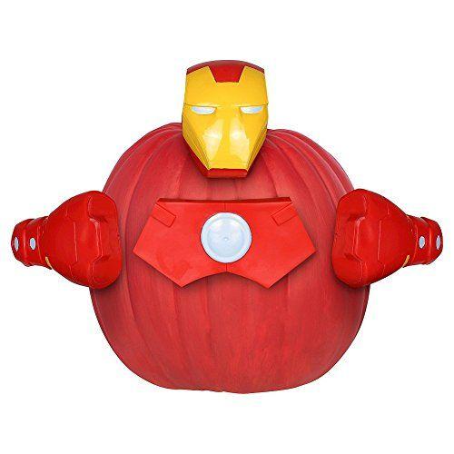 Avengers Iron Man Pumpkin Decorating Kit @ niftywarehouse.com #NiftyWarehouse #IronMan #Iron-man #Marvel #Avengers #TheAvengers #ComicBooks #Movies