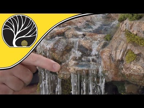 Model Waterfalls and Rapids - Model Scenery | Woodland Scenics - YouTube