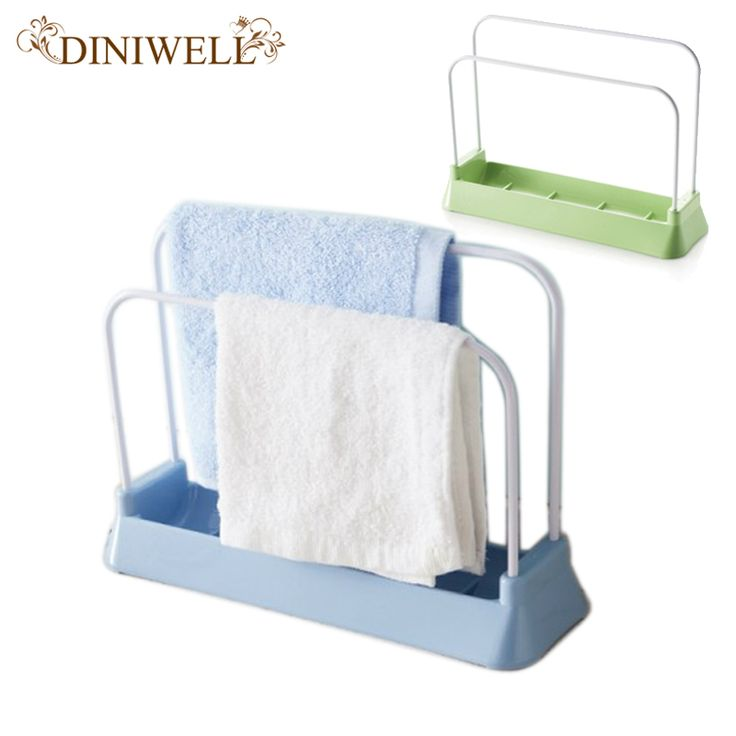 DINIWELL Kitchen Supplies Storage Shelf PP And Stainless Steel Cutting Board Shelving Drain For Sponge Cloth Rack Organizer