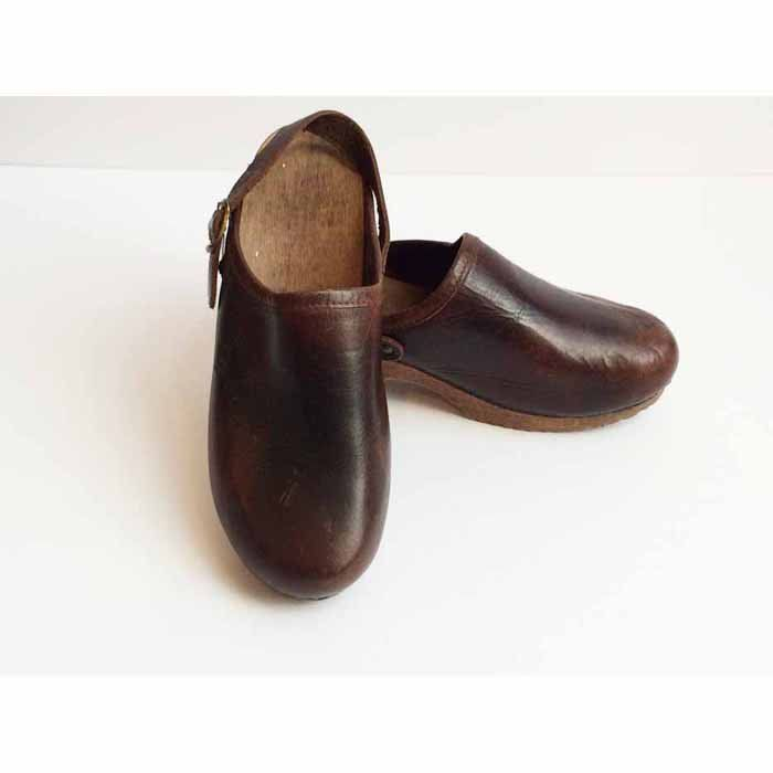 ALDO Leather Clogs with Wooden Heel