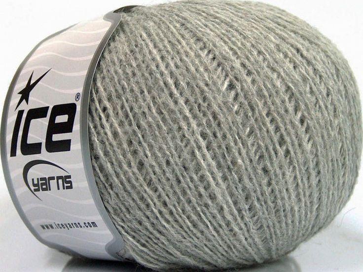 Fiber Content 70% Acrylic, 30% Wool, Light Grey, Brand Ice Yarns, fnt2-52848
