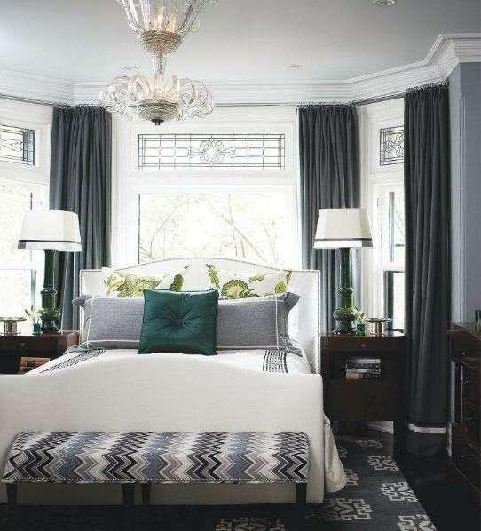 Idee per le pareti della camera da letto - Colore parete camera da letto bianco e grigio