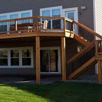 Minneapolis Deck Builder - Cedar Deck with Walk out | Yelp
