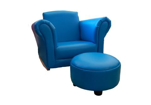 Buy Blue Kids Boys Rocking Sofa Chair Couch With Foot Stool Ottoman at Just $99.95   #childrenssofasaustralia