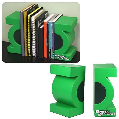 Green Lantern Bookends  #ManCave | Geek Decor