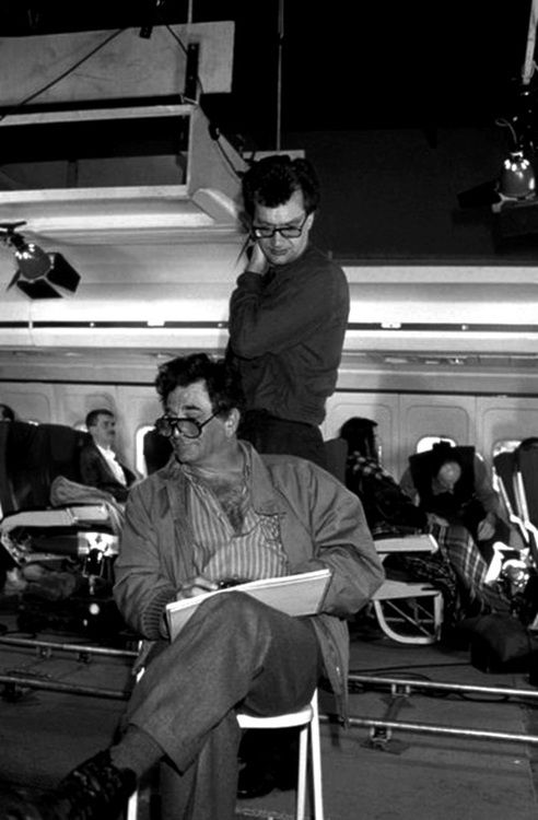 "Peter Falk - Wim Wenders - filming ""Wings of Desire"""