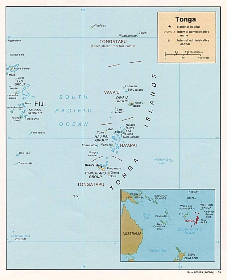 Tonga Island Chain- The Friendly Islands