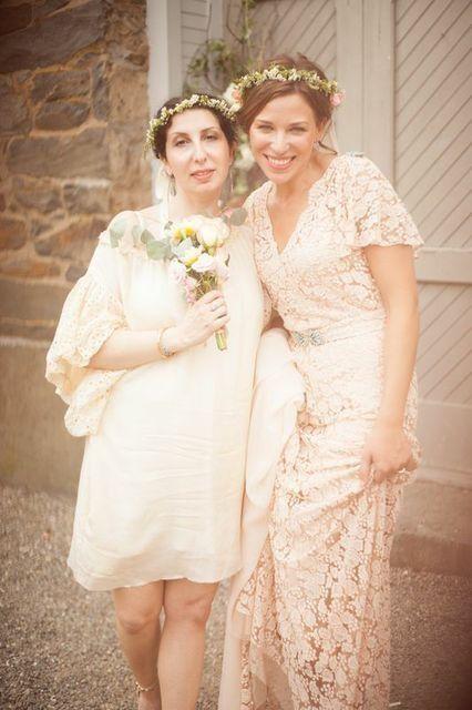 Jenny Sedlis Wore Our Stone Fox Bride Blush Lace Bias Cut