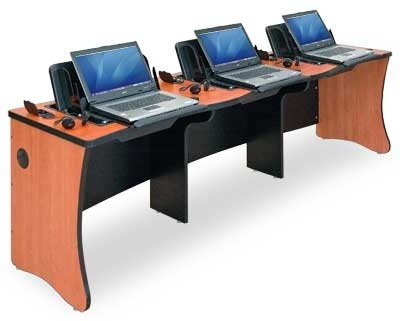 Easy Collaboration For Working On Homework Business Projects This Computer Desk Is Solid Sits Three Laptops J