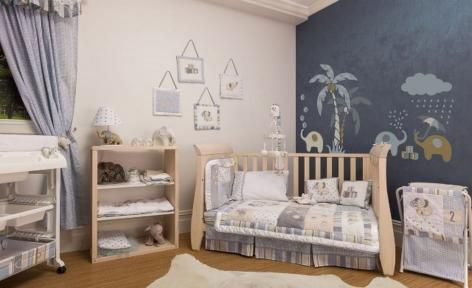 Snuggles The Elephant Baby Bedding by Hush Bubba