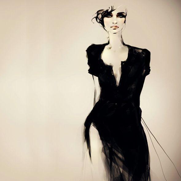 Fashion Illustrations Joanne Young 2 Illustrations par Joanne Young : Poétiquement Mode