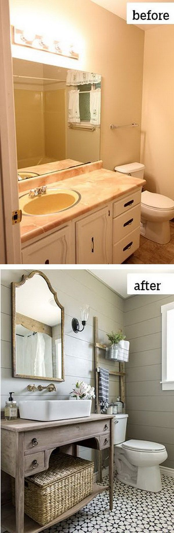 Before and After Makeovers: 23 Most Beautiful Bathroom Remodeling Ideas