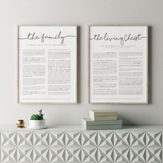 Large Family Proclamation Print 18 x 24 LDS