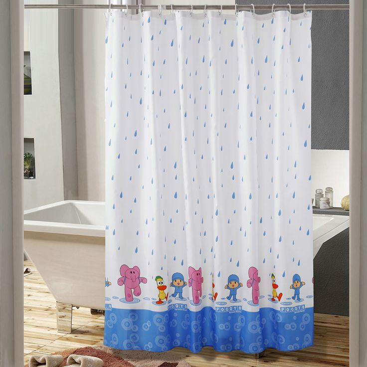 New Cartoon Elephant Child Waterproof Polyester Shower Curtain Bathroom Use rideau de douche cortinas de bano #Affiliate